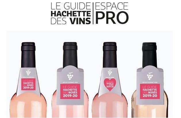 Rosé 2018 distingué dans le Guide Hachette.